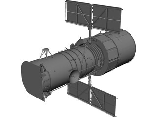 Hubble Space Telescope 3D Model