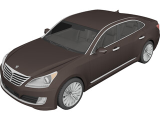 Hyundai Equus (2014) 3D Model