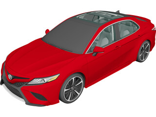 Toyota Camry (2018) 3D Model 3D Preview