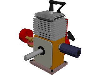 Engine 5HP 3D Model