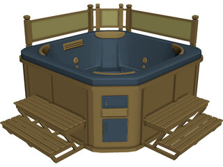 Outdoor Hot Tub Model 3D Model