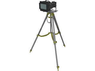 Old Fashion Camera On Tripod 3D Model 3D Preview