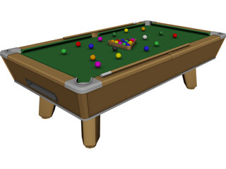 Indoor Pool Table 3D Model