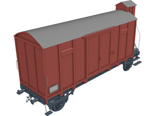 Wagon with Cabin 3D Model