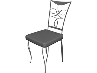 Cast Iron Chair 3D Model