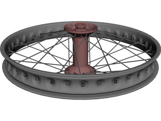 Motorcycle Wheel 3D Model