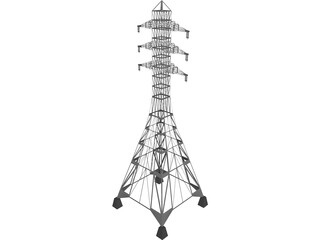 Transmission Pylon 3D Model