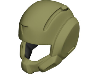Pilot Helmet 3D Model 3D Preview