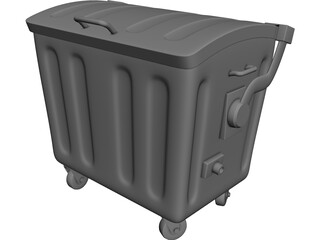 Trash Container 3D Model