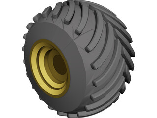 Monster Truck Wheel 3D Model
