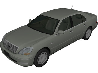 Toyota Celsior (2001) 3D Model