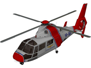 Eurocopter AS-365N Dauphin 2 3D Model