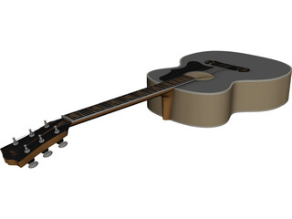 Guitar Acoustic Folk 3D Model