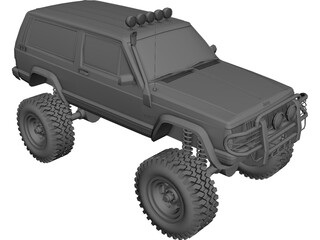 Jeep Cherokee Monster Truck 3D Model