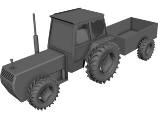 Tractor 3D Model 3D Preview