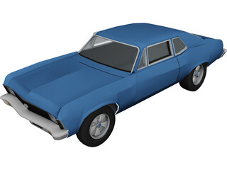 Chevrolet Nova SS (1972) 3D Model 3D Preview
