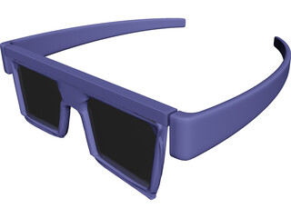 3D Glasses 3D Model 3D Preview