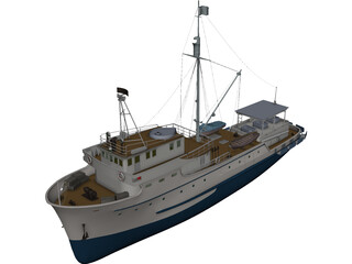 Fishing Ship 3D Model
