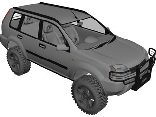 Nissan X-Trail 4x4 [Tuned] 3D Model