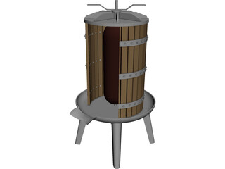 Grape Press 3D Model