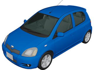 Toyota Vitz (2002) 3D Model