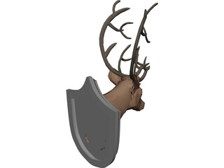 Deer on Wall 3D Model