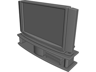Phillips PlasmaVision TV 3D Model