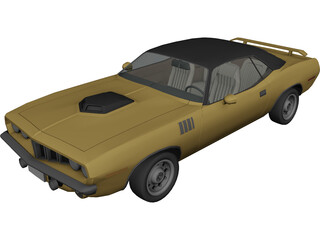 Plymouth Barracuda (1970) 3D Model