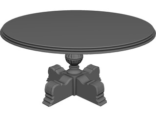 Carved Dining Table 3D Model