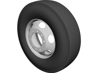 Tire and Rim 3D Model 3D Preview