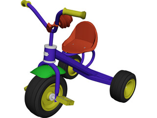 Childs Bike 3D Model