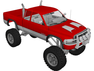 Dodge Ram Club Cab 4x4 3D Model