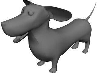 Dachshund 3D Model 3D Preview