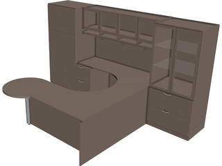 Executive Office Desk 3D Model