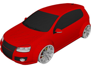 Volkswagen Golf 5 GTI 3D Model