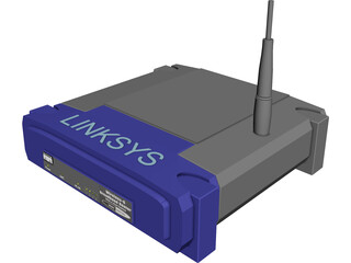 Linksys WRT54G 3D Model