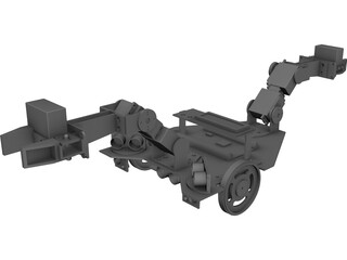 Robot - Autonomous Construction Vehicle 3D Model