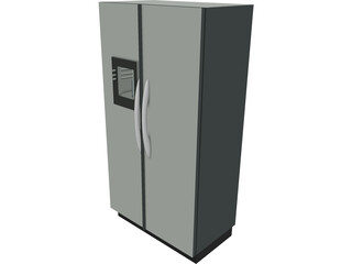 Fridge 2 Door 3D Model