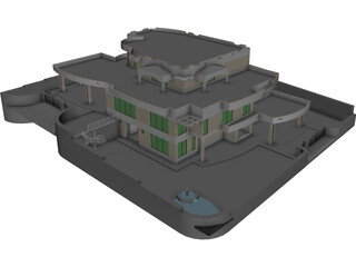 House 3 Story 3D Model 3D Preview