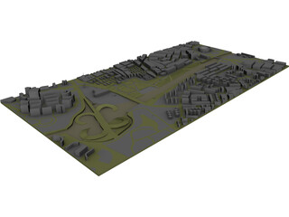Madrid City Part 3D Model