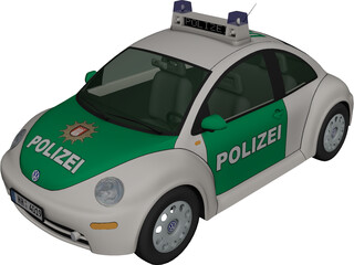Volkswagen Beetle Polizei 3D Model
