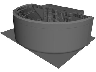 Bosra Ancient Theatre 3D Model