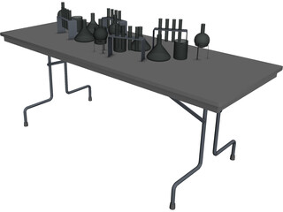 School Lab Table 3D Model
