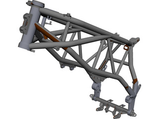 KTM 950 Rally LC8 Frame CAD 3D Model