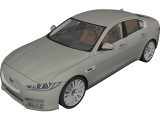 Jaguar XE Portfolio (2018) 3D Model