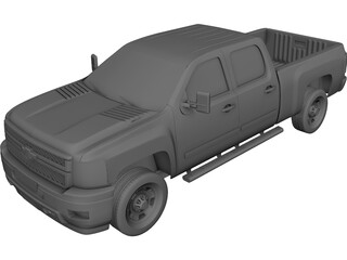 Chevrolet Silverado HD Crewcab Standard Bed (2011) 3D Model
