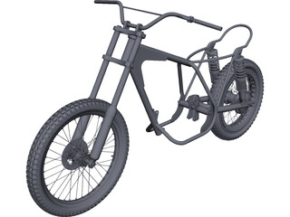 Bultaco Pursang Bike Frame CAD 3D Model