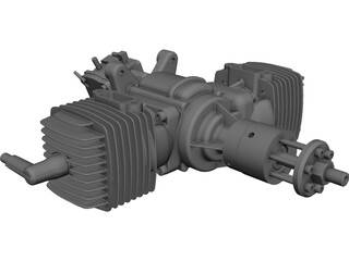 ZDZ 112cc Engine 3D Model