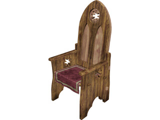 Medieval Chair 3D Model
