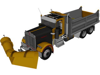 Kenworth Snow Plow 3D Model
